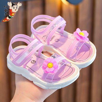 阿童木女童凉鞋2021年夏季新款软底小公主鞋儿童韩版时尚中大童鞋