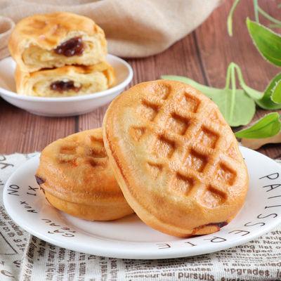 倍之味华夫面包水红豆风味蛋糕卷夹心软面包营养早餐网红点心午茶