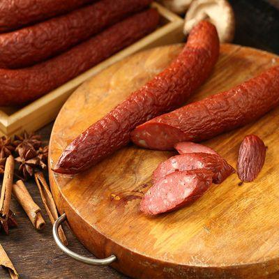 哈尔滨红肠正宗熟食风味香肠东北特产即食猪肉肠下酒菜蒜香火腿肠