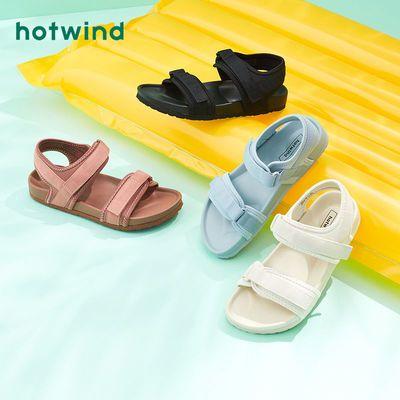 64202/热风女鞋2021夏新款女士时尚休闲凉鞋平底魔术贴时装凉鞋H60W1601