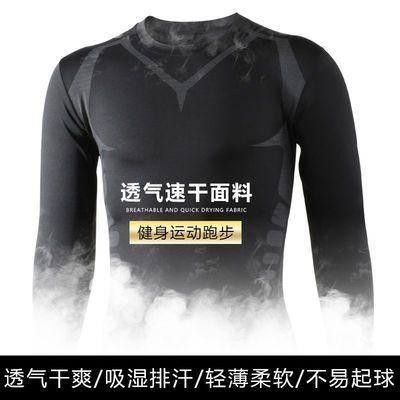 93237/紧身衣男健身服运动跑步套装篮球训练速干衣男士高弹t恤健身衣服