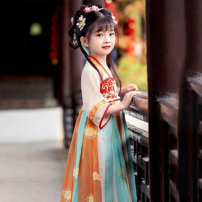 39858/儿童汉服女古装女童连衣裙中国风公主仙气超仙新款2021古风裙子夏