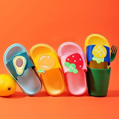 2021夏季新款男女童拖鞋可爱卡通水果软底儿童拖鞋