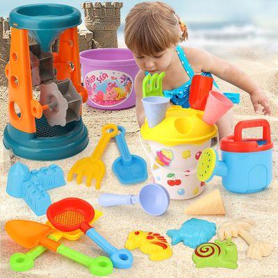沙滩玩具儿童铲子和桶套装加厚铁桶小铲子海边户外园艺挖沙子工具