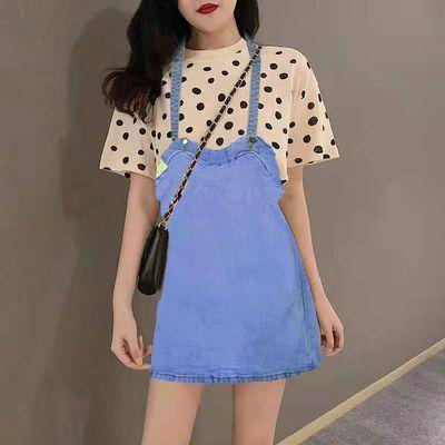 29351/牛仔背带裙女2021夏季新款显瘦连衣裙减龄中长款裙子