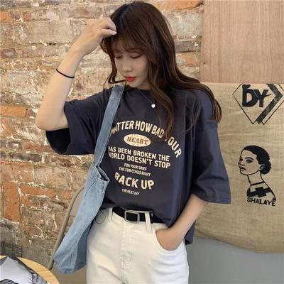 【含棉】2021春夏季短袖T恤女/随机颜色随机款/按照下单码数发货