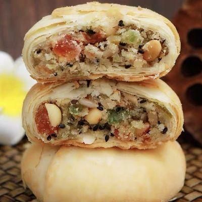 【买一送一】苏式酥皮月饼老五仁老式传统手工酥饼零食糕点心批发