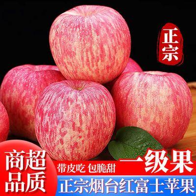 一级果正宗山东烟台栖霞红富士苹果当季新鲜水果脆甜多汁整箱批发