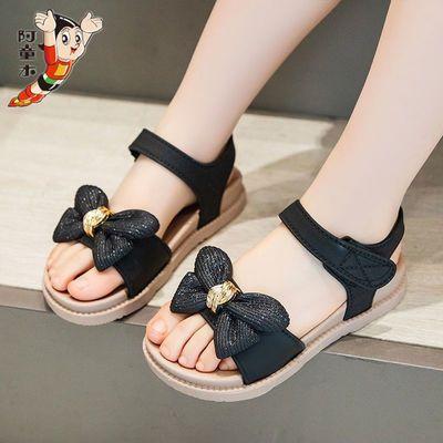 阿童木女童凉鞋2021新款时尚夏季小公主女孩中大童网红亮片鞋子