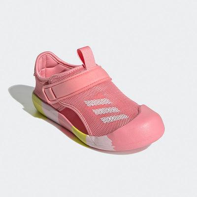 37281/AD儿童女凉鞋2021夏季新款男女儿童黑色魔术贴包头沙滩鞋凉鞋