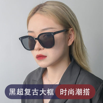 GM韩版墨镜男女潮流太阳镜ins网红墨镜大脸显瘦防紫外线太阳镜