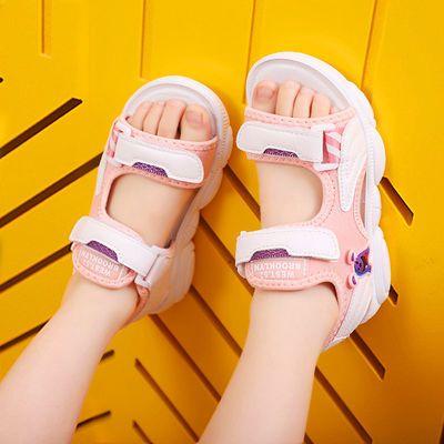 39994/女童凉鞋儿童沙滩鞋2021时尚男孩凉鞋软底中大童透气童鞋洋气韩版