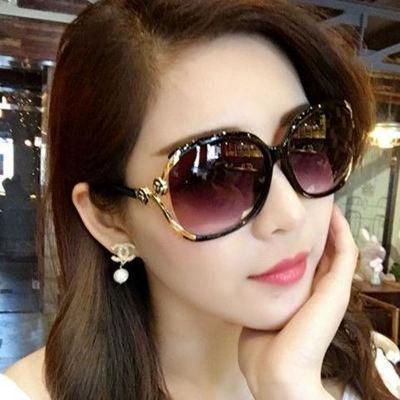 31453/2021新款女士太阳镜防紫外线圆形优雅墨镜偏光眼镜女款圆脸长脸
