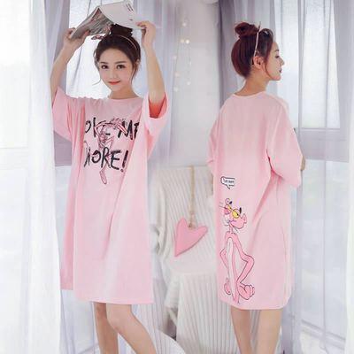 32880/【赠送运险费 】夏季新款可爱卡通短袖睡裙女学生睡衣外穿家居服