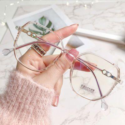 33500/眼镜女近视有度数大脸显瘦防蓝光素颜眼镜框女无镜片男平光镜护目