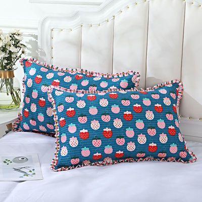 纯棉枕套一对装四季绗缝枕芯套单双人夹棉加厚通用单人成人枕头套