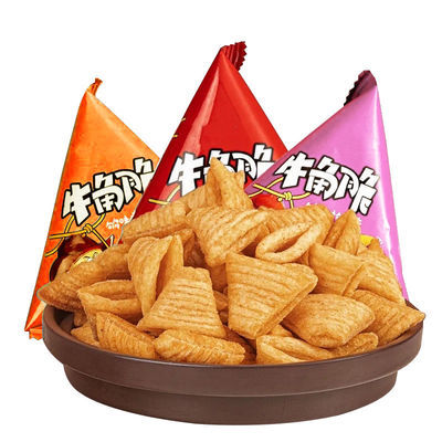 37057/牛角脆尖角脆锅巴薯片零食小吃整箱网红休闲零食大礼包