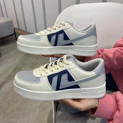 55984/运动鞋女学生情侣韩版新款小白鞋ins原宿风软妹平底休闲鞋板鞋潮