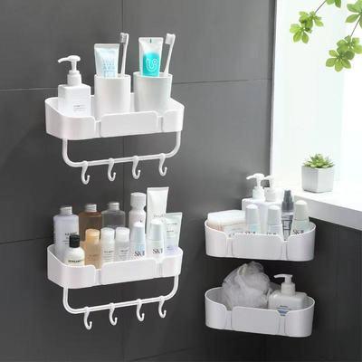 浴室置物架厨放置架厕所洗手间毛巾收纳免打孔壁挂式洗澡卫生间