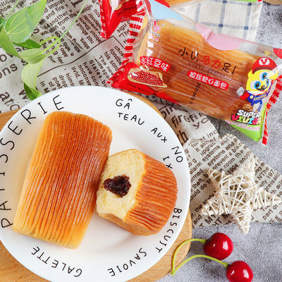 倍之味手撕面包水红豆风味蛋糕卷夹心软面包营养早餐网红点心午茶
