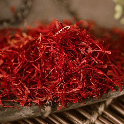 藏红花特级西藏正宗泡水泡茶喝宫寒活血化瘀西红花1g/2g/3g送镊子