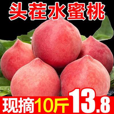 现摘水蜜桃新鲜水果应季5/3/10斤整箱脆甜毛桃子孕妇桃子新鲜脆桃【6月10日发完】