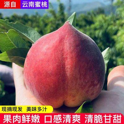 当季现摘云南鹰嘴桃子新鲜水蜜桃冬桃丽江雪桃脆甜多汁红宝石水果