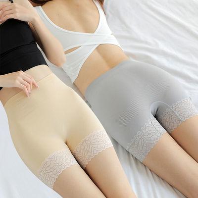 蕾丝安全裤大码三分裤女蝴蝶结防走光打底裤三分裤