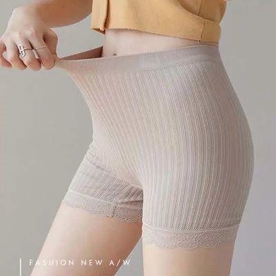 安全裤女防走光薄款贴身三分短裤夏季可外穿打底裤不卷边蕾丝花边