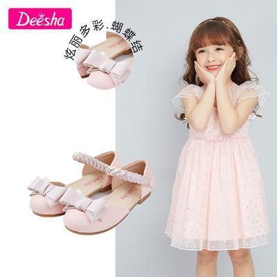 37569/笛莎女童凉鞋2021夏季新款鞋子女童甜美蝴蝶结公主风凉鞋