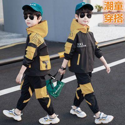 76281/男童套装2021春秋款中大童6韩版洋气8工装男孩10外套长裤12两件套