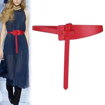 90232/女士腰封连衣裙装饰时尚大衣打结束腰腰封配裙子皮带女