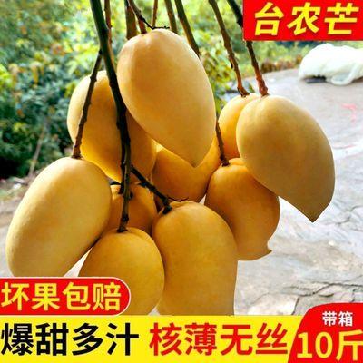 云南小台农芒果新鲜应季水果3/5/10斤装整箱批发
