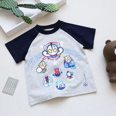 夏季日系奥特曼t恤儿童宝宝短袖纯棉卡通男童半袖体恤上衣