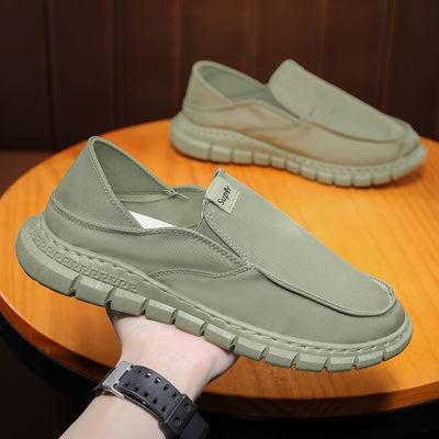 33093/鞋子男2021新款老北京布鞋一脚蹬懒人鞋冰丝布透气夏季鞋抖音同款