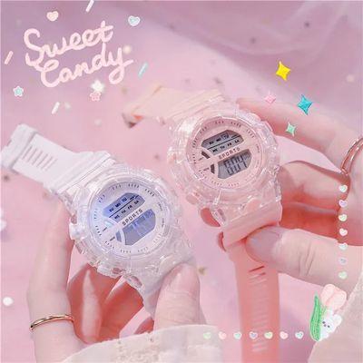 31688/手表女学生韩版简约防水夜光电子表运动潮流硅胶中学生儿童手表
