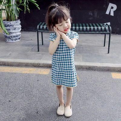 女童旗袍连衣裙2021夏装新款中小童2中国复古风汉服6公主裙表演服