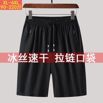夏季薄款男士短裤五分裤 黑色运动短裤 冰丝透气速干休闲裤运动裤