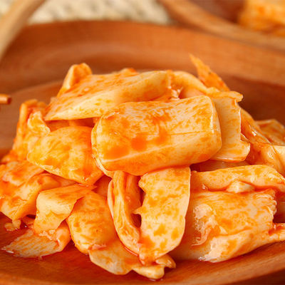 4.5斤即食香辣杏鲍菇麻辣红油蘑菇金针菇下饭菜开胃菜散装包邮