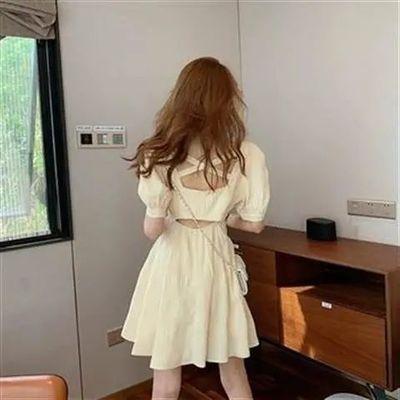37106/法式复古小众茶歇裙小个子梗桔初恋森系温柔高级感连衣裙子女夏季