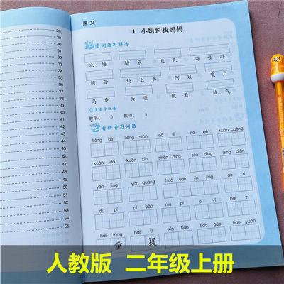 二年级上册看拼音写词语生字注音默写汉字人教版课本同步一课一练