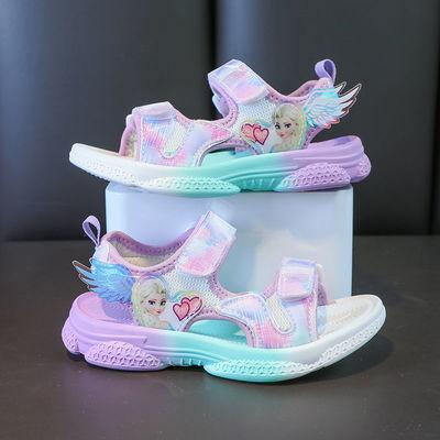 35304/2021夏季新款女童凉鞋韩版休闲女生沙滩鞋防滑软底小女孩公主鞋子