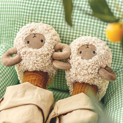 77406/幸福玛丽儿童男童女童棉鞋子秋冬婴儿鞋冬加绒儿童棉拖鞋包跟女童
