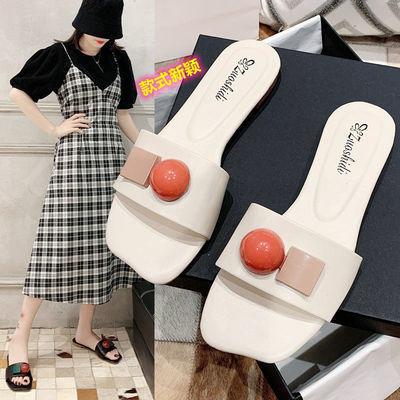 32912/拖鞋女家居凉鞋女夏季时尚外穿新款2021鞋韩版百搭一字凉鞋学生鞋