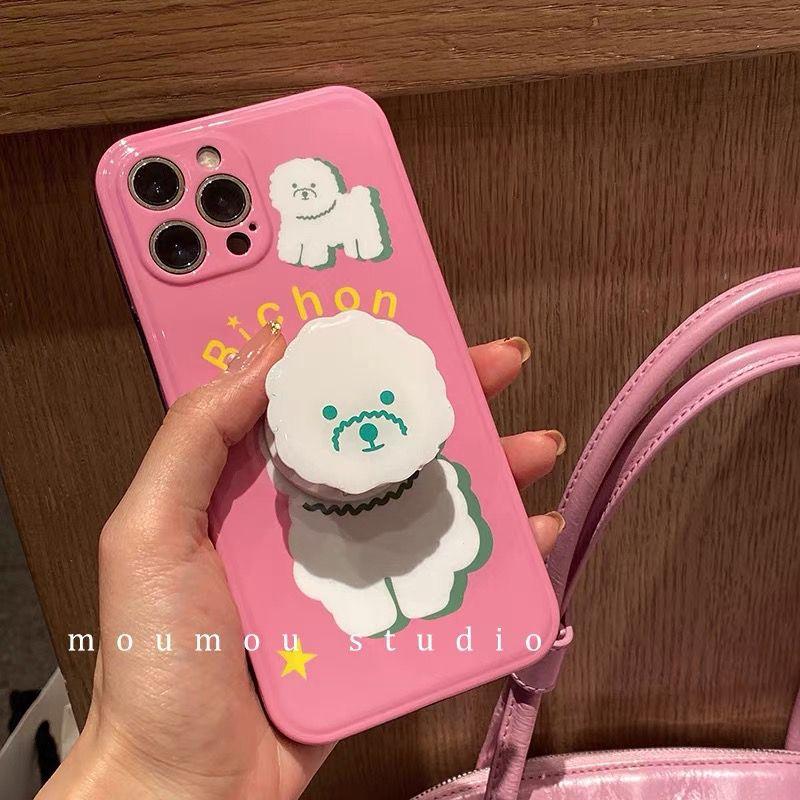 可爱卷毛狗12/11Pro/Max苹果11手机壳8plus软X/XS/XR女7p套