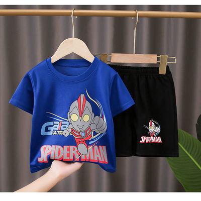 奥特曼衣服男孩夏装中小儿童男童速干短袖套装夏季童装炸街洋气潮