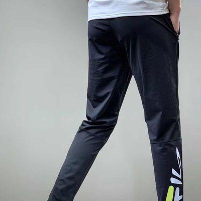 51386/大码速干男士新款休闲针织高弹力小脚长清凉透气冰丝空调裤不贴身