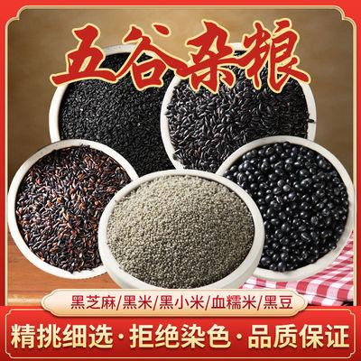 35836/五谷杂粮米原材料五黑组合黑米黑豆黑芝麻黑小米黑糯米粗粮营养粥
