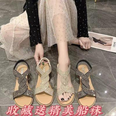 36930/凉鞋女2021新款夏网红ins潮百搭学生时尚外穿配裙子仙女罗马鞋女