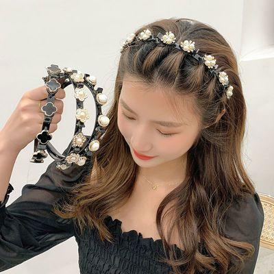 珍珠发箍编发刘海碎发神器懒人神器韩国甜美发卡网红2021年新款